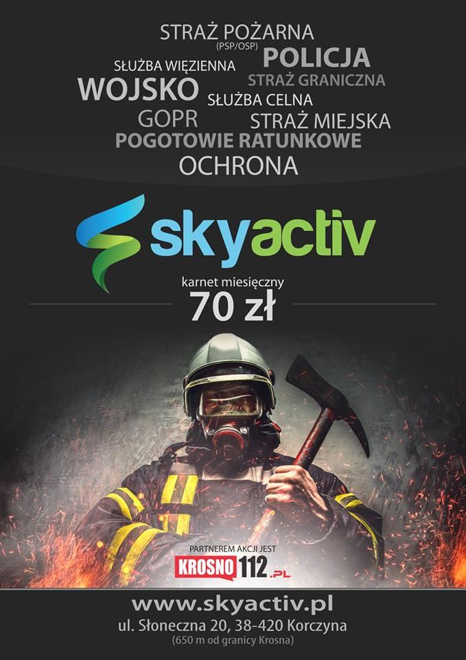 Specjalna oferta dla służb mundurowych w siłowni SkyActiv w Korczynie