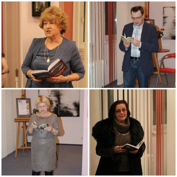 Spotkanie z Danutą Drzewicką, Krzysztofem Graboniem, Krystyną Kulman i Ewą Zajdel, którzy prezentowali najnowsze zbiory poetyckie.