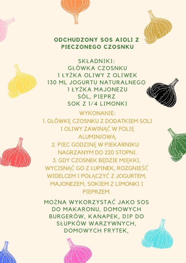 Przepis na sos z pieczonego czosnku -Simona Kus